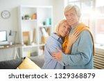 waist up portrait of happy... | Shutterstock . vector #1329368879