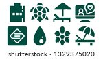 filled icon set. 8 filled... | Shutterstock .eps vector #1329375020