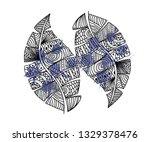 art leave for wallpaper... | Shutterstock .eps vector #1329378476