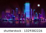 future metropolis night... | Shutterstock .eps vector #1329382226