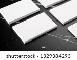 photo of white business cards... | Shutterstock . vector #1329384293