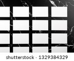 photo of white business cards... | Shutterstock . vector #1329384329
