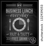 bussiness lunch poster  ... | Shutterstock .eps vector #132939053