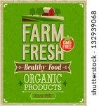 vintage farm fresh poster.... | Shutterstock .eps vector #132939068