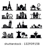 vector black travel and... | Shutterstock .eps vector #132939158