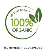 vegan logo design. vector...   Shutterstock .eps vector #1329396083