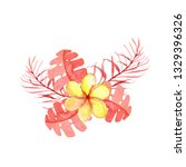 bright exotic bouquets in the... | Shutterstock . vector #1329396326