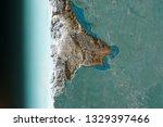 peeling blue aquamarine color... | Shutterstock . vector #1329397466