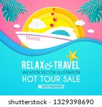 hot vacation design template.... | Shutterstock .eps vector #1329398690