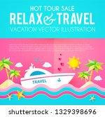 hot vacation design template....   Shutterstock .eps vector #1329398696