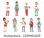 young nerds. smart teen geeks...   Shutterstock .eps vector #1329401639