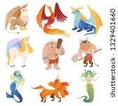 fantastic creatures. phoenix... | Shutterstock .eps vector #1329401660