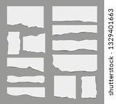 ripped white paper. torn light... | Shutterstock .eps vector #1329401663