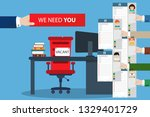 chosing person for hiring.... | Shutterstock .eps vector #1329401729