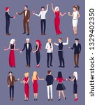 people dressed formally in... | Shutterstock . vector #1329402350