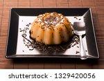 caramel pudding sweet dessert...   Shutterstock . vector #1329420056