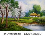 Oil Paintings Landscape. Old...