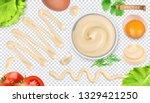 mayonnaise sauce  3d vector... | Shutterstock .eps vector #1329421250