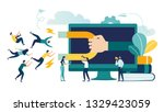 vector illustration  digital... | Shutterstock .eps vector #1329423059