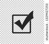 check mark in a box icon... | Shutterstock .eps vector #1329427253