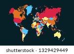 color world map vector | Shutterstock .eps vector #1329429449