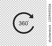 angle 360 degrees icon isolated ... | Shutterstock .eps vector #1329435326