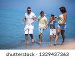 summer holidays. family having... | Shutterstock . vector #1329437363