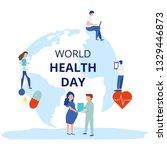 world health day vector... | Shutterstock .eps vector #1329446873