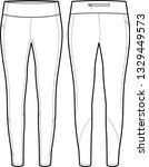 womens full length legging... | Shutterstock .eps vector #1329449573