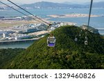 cable car with airport in...   Shutterstock . vector #1329460826