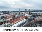 aerial winter riga  latvia.   Shutterstock . vector #1329461993