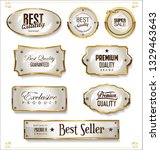 golden sale labels retro... | Shutterstock .eps vector #1329463643