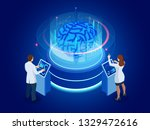 isometric scientific... | Shutterstock .eps vector #1329472616