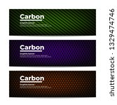 three different carbon fiber... | Shutterstock .eps vector #1329474746