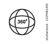 360 degree video or view 360... | Shutterstock .eps vector #1329481403