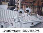 rusty metal roof on a neglected ...   Shutterstock . vector #1329485696