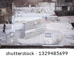 rusty metal roof on a neglected ...   Shutterstock . vector #1329485699