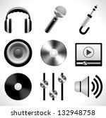 music icons | Shutterstock .eps vector #132948758