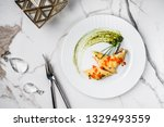crepes with filet salmon and...   Shutterstock . vector #1329493559