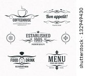 label set for restaurant and... | Shutterstock .eps vector #132949430