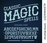 vintage decorative font....   Shutterstock .eps vector #1329494579