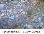 beautiful water oil bubble...   Shutterstock . vector #1329498986