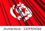 abstract flag of tunisia. 3d... | Shutterstock . vector #1329504266