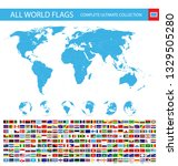 all vector world flags with... | Shutterstock .eps vector #1329505280
