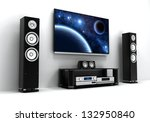 home cinema modern  done in 3d  | Shutterstock . vector #132950840