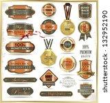 luxury labels   Shutterstock .eps vector #132952190