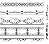 vector vintage borders set | Shutterstock .eps vector #132952613