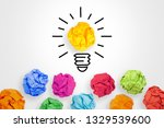 idea concepts with crumpled... | Shutterstock . vector #1329539600