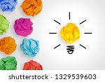 idea concepts light bulb with... | Shutterstock . vector #1329539603
