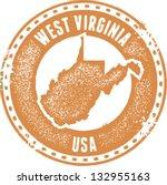 vintage west virginia usa state ... | Shutterstock .eps vector #132955163